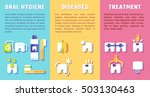 set of banners with dental... | Shutterstock .eps vector #503130463