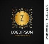 z letter logo  golden monogram... | Shutterstock .eps vector #503131873