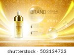 cosmetic ads template  droplet... | Shutterstock .eps vector #503134723