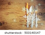family holiday  christmas table ... | Shutterstock . vector #503140147