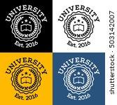 academy  university  college... | Shutterstock .eps vector #503142007