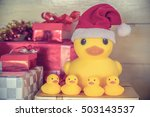 Rubber Yellow Duck  Santa...