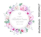 beautiful wedding floral vector ... | Shutterstock .eps vector #503149417