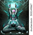 robotic fairy. raster... | Shutterstock . vector #503149867