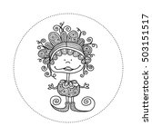 cute and fun doodle doll vector ...   Shutterstock .eps vector #503151517
