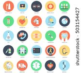 flat conceptual icon set of... | Shutterstock .eps vector #503154427