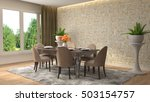 interior dining area. 3d... | Shutterstock . vector #503154757