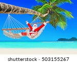 santa claus relax at sun in... | Shutterstock . vector #503155267