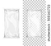 set of foil bags for snack or... | Shutterstock .eps vector #503161723