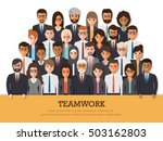group of businessman and... | Shutterstock .eps vector #503162803