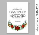poinsettia wedding invitation... | Shutterstock .eps vector #503163553