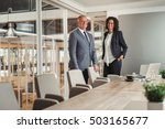 achieving career success | Shutterstock . vector #503165677
