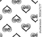 monochrome seamless pattern... | Shutterstock .eps vector #503167177