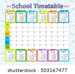 template school timetable... | Shutterstock .eps vector #503167477