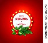 christmas retro frame with... | Shutterstock .eps vector #503182093