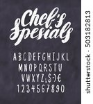 chef's specials menu.... | Shutterstock .eps vector #503182813