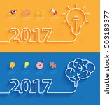 happy new year 2017 calendar... | Shutterstock .eps vector #503183377