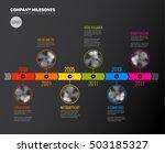 vector infographic company... | Shutterstock .eps vector #503185327
