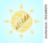 autumn word cloud in shape of... | Shutterstock .eps vector #503188093