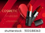 makeup ads template  charming... | Shutterstock .eps vector #503188363