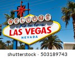 welcome to fabulous las vegas ... | Shutterstock . vector #503189743