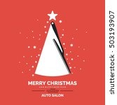 Poster For Auto Salon. Merry...