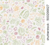 veggie seamless pattern with... | Shutterstock .eps vector #503200027