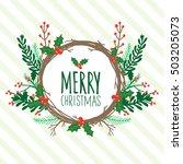 christmas card  christmas... | Shutterstock .eps vector #503205073