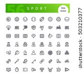 set of 56 sport line icons... | Shutterstock .eps vector #503210377