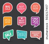 set of commercial sale stickers ... | Shutterstock .eps vector #503217457