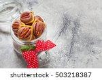 chocolate caramel pecan pretzel ... | Shutterstock . vector #503218387