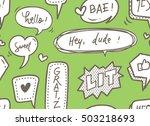 cute speech bubble seamless... | Shutterstock .eps vector #503218693