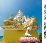 Small photo of Brahma meet the Savior in the field since Hindu dignitaries largest city in Thailand.