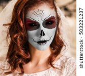 Young Woman In Day Of The Dead...