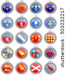 set of icons. regions of france ... | Shutterstock .eps vector #503232217
