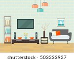 living room with chair and... | Shutterstock .eps vector #503233927
