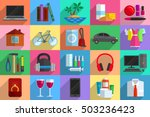 various objects as potential... | Shutterstock .eps vector #503236423