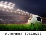 soccer field and stadium with... | Shutterstock . vector #503238283