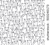 Cats Vector Seamless Pattern...