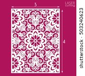 die cut ornamental panel with... | Shutterstock .eps vector #503240623