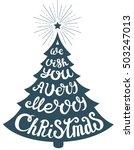 vector christmas tree of...   Shutterstock .eps vector #503247013