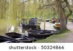 lots of rowing boats moored... | Shutterstock . vector #50324866