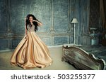 glamorous brunette woman in a... | Shutterstock . vector #503255377