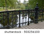 padlocks on a bridge in... | Shutterstock . vector #503256103