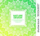 tribal mandala design set.... | Shutterstock .eps vector #503263057