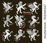 heraldic beasts. vector... | Shutterstock .eps vector #503264167