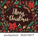 christmas card with fir tree | Shutterstock .eps vector #503273077