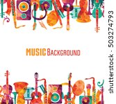 colorful music background.... | Shutterstock .eps vector #503274793