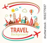world travel  landmarks... | Shutterstock .eps vector #503277037