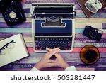 desk work retro tool | Shutterstock . vector #503281447